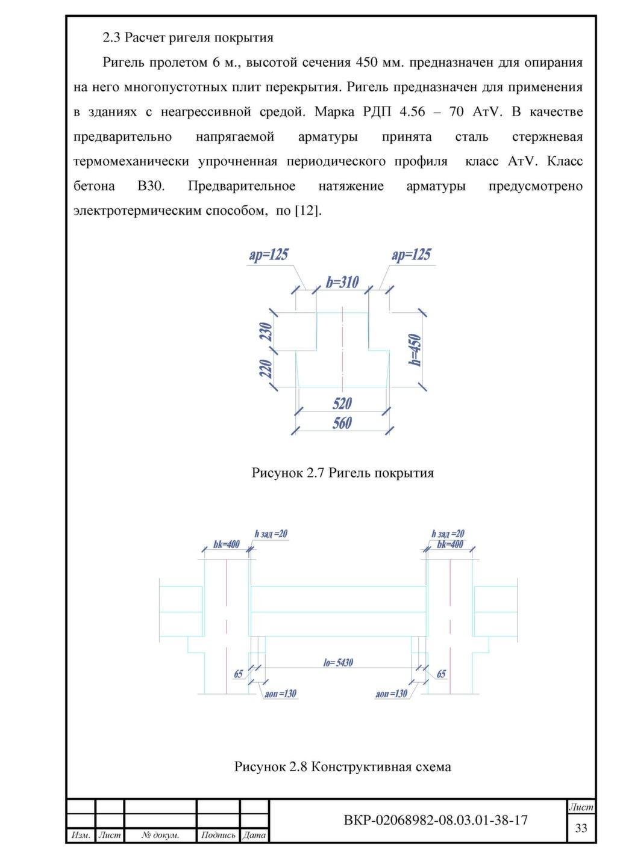 Схема армирования с напряженной арматурой