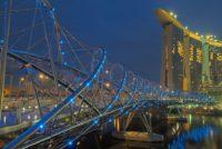 Сингапур Мост Хеликс, Сингапур.